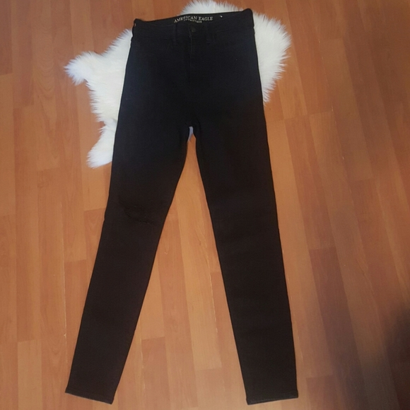 American Eagle Outfitters Denim - American Eagle highest rise jegging black 8R